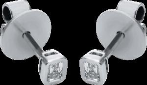 Ohrstecker Brogle Selection Promise aus 750 Weißgold mit 2 Diamanten (2 x 0,1 Karat)