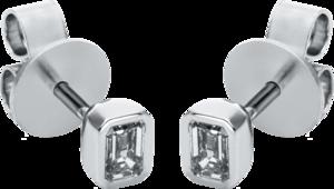 Ohrstecker Brogle Selection Promise aus 750 Weißgold mit 2 Diamanten (2 x 0,25 Karat)