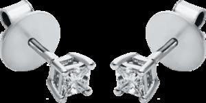 Ohrstecker Brogle Selection Promise aus 750 Weißgold mit 2 Diamanten (2 x 0,145 Karat)