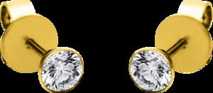 Ohrstecker Brogle Selection Promise aus 750 Gelbgold mit 2 Brillanten (2 x 0,31 Karat)