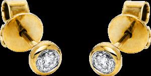 Ohrstecker Brogle Selection Promise aus 585 Gelbgold mit 2 Brillanten (2 x 0,15 Karat)