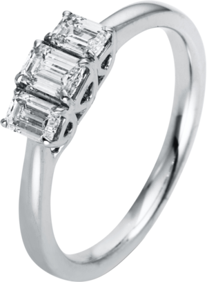 Ring Brogle Selection Promise aus 750 Weißgold mit 3 Diamanten (0,64 Karat)