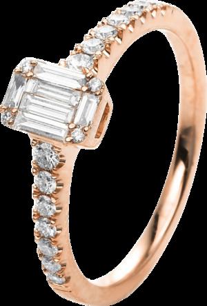 Ring Brogle Selection Promise aus 750 Roségold mit 23 Brillanten (0,41 Karat)