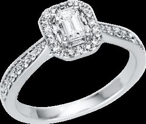 Ring Brogle Selection Promise aus 750 Weißgold mit 43 Diamanten (0,68 Karat)