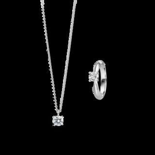 Brogle Selection Ring Promise Set aus Kette und LW-SET1-RK-WG-0.1GSI
