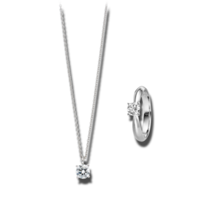 Brogle Selection Ring Promise Set aus Kette und LW-SET1-RK-WG-1.0GSI