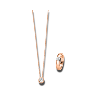 Brogle Selection Ring Promise Set aus Kette und LW-SET3-RK-RG-0.1GSI