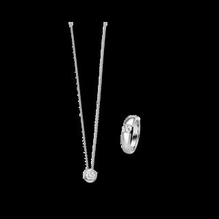 Brogle Selection Ring Promise Set aus Kette und LW-SET3-RK-WG-0.1GSI