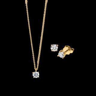 Brogle Selection Halskette Promise Set aus Ohrring und LW-SET1-OK-GG-0.1GSI