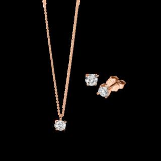 Brogle Selection Halskette Promise Set aus Ohrring und LW-SET1-OK-RG-0.1GSI