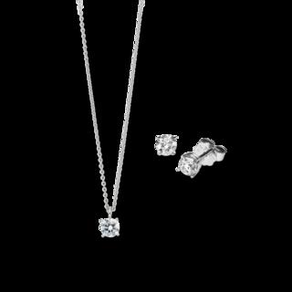 Brogle Selection Halskette Promise Set aus Ohrring und LW-SET1-OK-WG-0.1GSI