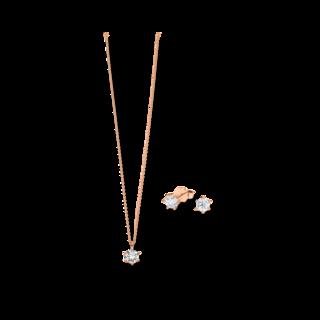 Brogle Selection Halskette Promise Set aus Ohrring und LW-SET2-OK-RG-0.1GSI