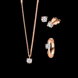 Brogle Selection Ring Promise Set aus Ohrring, Kette und LW-SET1-RKO-RG-0.1GSI