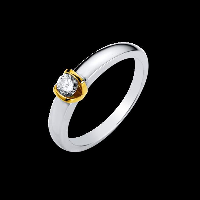 Solitairering Brogle Selection Promise aus 585 Gelbgold und 585 Weißgold mit 1 Brillant (0,16 Karat) bei Brogle