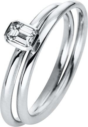 Solitairering Brogle Selection Promise aus 750 Weißgold mit 1 Diamant (0,32 Karat)
