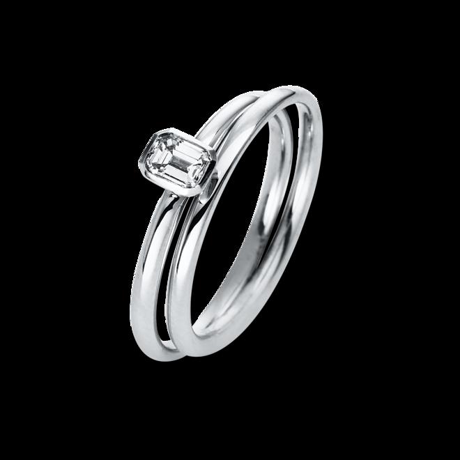 Solitairering Brogle Selection Promise aus 750 Weißgold mit 1 Diamant (0,32 Karat) bei Brogle