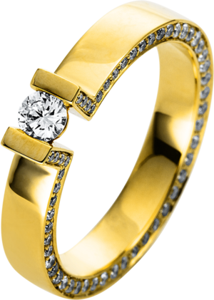 Solitairering Brogle Selection Promise aus 750 Gelbgold mit 1 Brillant (0,15 Karat)