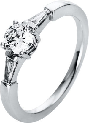 Solitairering Brogle Selection Promise aus 950 Platin mit 3 Diamanten (0,7 Karat)