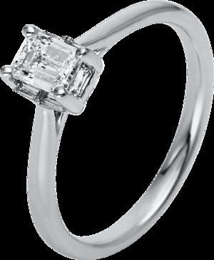Solitairering Brogle Selection Promise aus 750 Weißgold mit 1 Diamant (0,59 Karat)