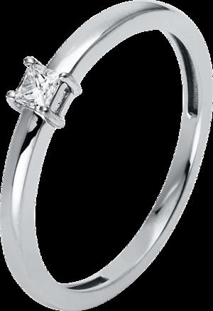 Solitairering Brogle Selection Promise aus 750 Weißgold mit 1 Diamant (0,1 Karat)