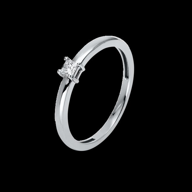 Solitairering Brogle Selection Promise aus 750 Weißgold mit 1 Diamant (0,1 Karat) bei Brogle