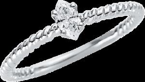 Solitairering Brogle Selection Promise aus 750 Weißgold mit 1 Diamant (0,16 Karat)