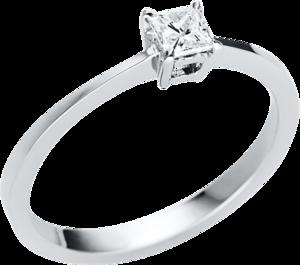 Solitairering Brogle Selection Promise aus 585 Weißgold mit 1 Diamant (0,22 Karat)