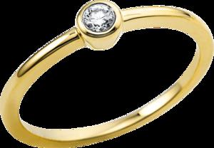 Solitairering Brogle Selection Promise aus 750 Gelbgold mit 1 Brillant (0,08 Karat)