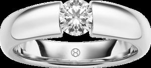 Spannring Brogle Selection Promise aus 750 Weißgold mit 1 Brillant (0,05 Karat)