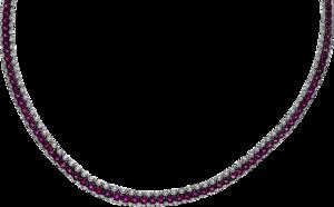 Halskette Brogle Selection Royal aus 750 Weißgold mit 278 Brillanten (2,55 Karat) und 139 Rubinen