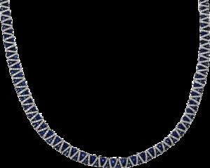 Halskette Brogle Selection Royal aus 750 Weißgold mit 772 Brillanten (3,83 Karat) und 229 Saphiren