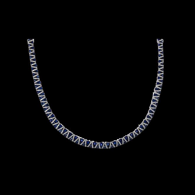Halskette Brogle Selection Royal aus 750 Weißgold mit 772 Brillanten (3,83 Karat) und 229 Saphiren bei Brogle