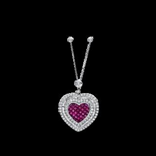 Brogle Selection Halskette mit Anhänger Royal Herz 4F289W4-1