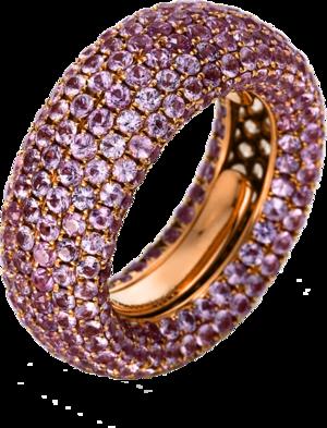 Ring Brogle Selection Royal aus 750 Roségold mit 386 Saphiren