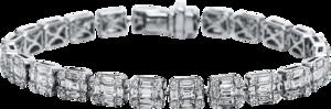 Armband Brogle Selection Statement aus 750 Weißgold mit 216 Brillanten (7,66 Karat)