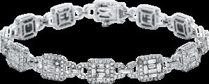 Armband Brogle Selection Statement aus 750 Weißgold mit 516 Brillanten (5,46 Karat)