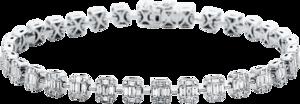 Armband Brogle Selection Statement aus 750 Weißgold mit 288 Diamanten (2,39 Karat)
