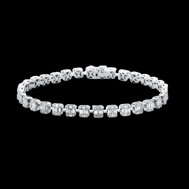 Armband Brogle Selection Statement aus 750 Weißgold mit 288 Diamanten (2,39 Karat) bei Brogle