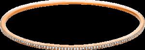 Armreif Brogle Selection Statement aus 750 Roségold mit 165 Brillanten (0,99 Karat)