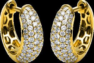 Creole Brogle Selection Statement aus 750 Gelbgold mit 118 Brillanten (2 x 0,585 Karat)