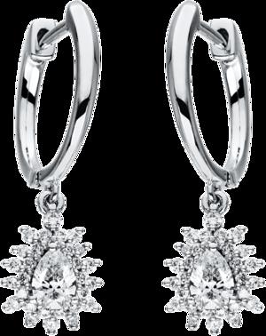 Creole Brogle Selection Statement aus 750 Weißgold mit 58 Diamanten (2 x 0,315 Karat)