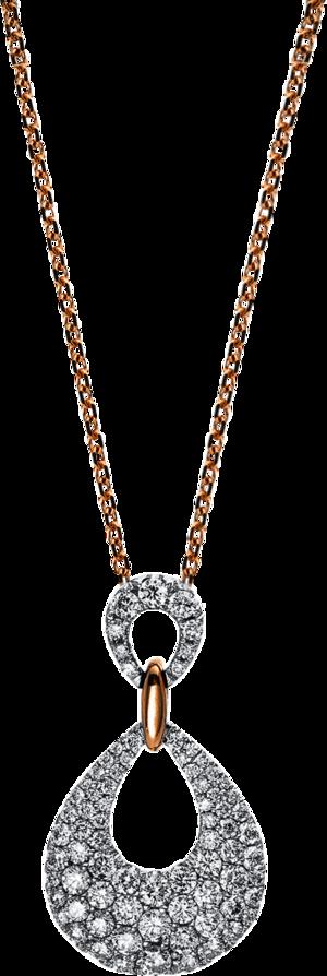 Halskette mit Anhänger Brogle Selection Statement aus 750 Weißgold und 750 Roségold mit 78 Brillanten (0,78 Karat)