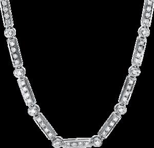 Halskette Brogle Selection Statement aus 750 Weißgold mit 165 Brillanten (3,32 Karat)