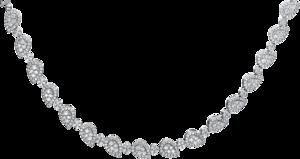 Halskette Brogle Selection Statement aus 750 Weißgold mit 535 Brillanten (4,25 Karat)