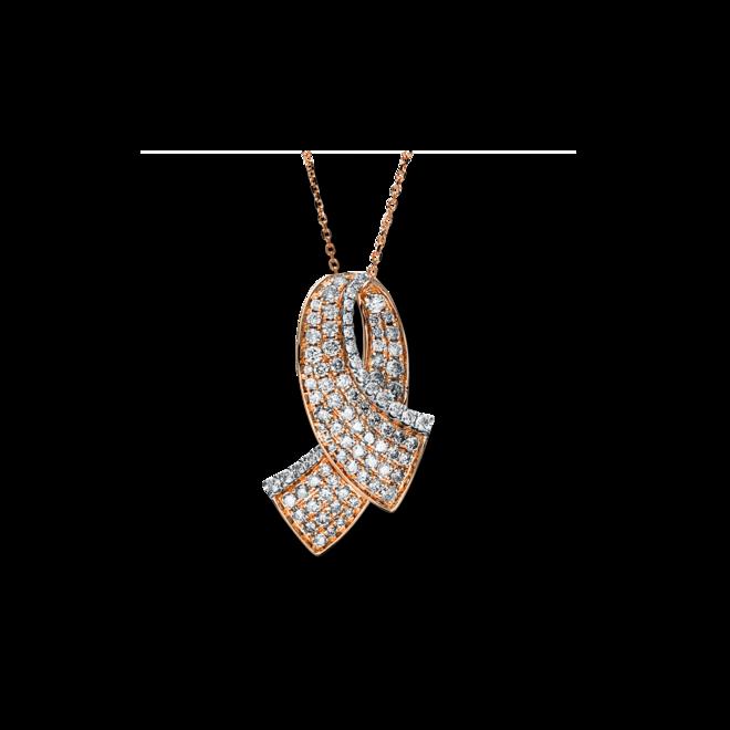 Halskette mit Anhänger Brogle Selection Statement aus 585 Roségold und 585 Weißgold mit 94 Brillanten (1,72 Karat) bei Brogle