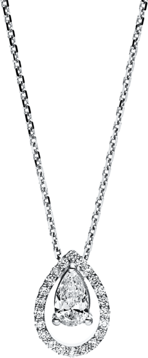 Halskette mit Anhänger Brogle Selection Statement aus 750 Weißgold mit 23 Brillanten (0,46 Karat)