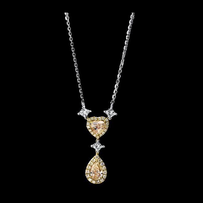 Halskette mit Anhänger Brogle Selection Statement aus 750 Gelbgold und 750 Weißgold mit 37 Brillanten (2,23 Karat) bei Brogle