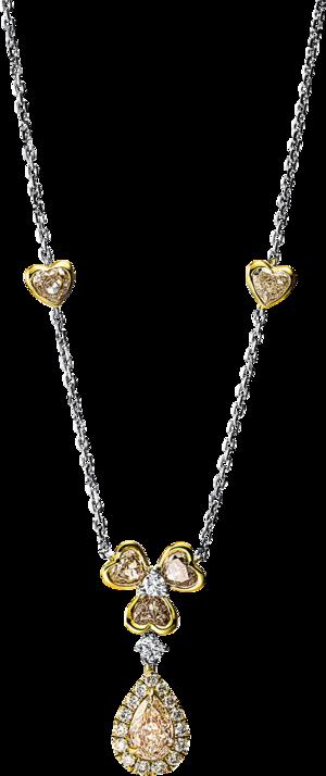 Halskette mit Anhänger Brogle Selection Statement aus 750 Gelbgold und 750 Weißgold mit 23 Brillanten (2 Karat)