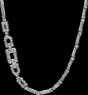 Halskette mit Anhänger Brogle Selection Statement aus 750 Weißgold mit 416 Brillanten (8,56 Karat)