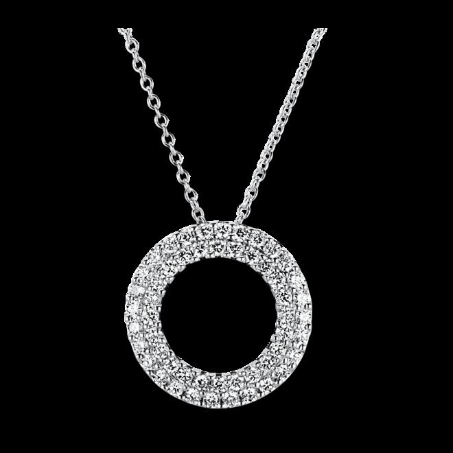 Halskette mit Anhänger Brogle Selection Statement Kreis aus 750 Weißgold mit 52 Brillanten (0,41 Karat) bei Brogle